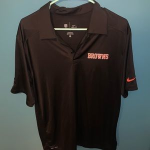 Nike Cleveland Browns Dri-Fit OnField Polo